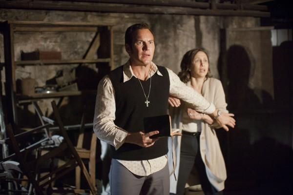 "(L-r) PATRICK WILSON as Ed Warren and VERA FARMIGA as Lorraine Warren in New Line Cinema's supernatural thriller ""THE CONJURING,"" a Warner Bros. Pictures release."