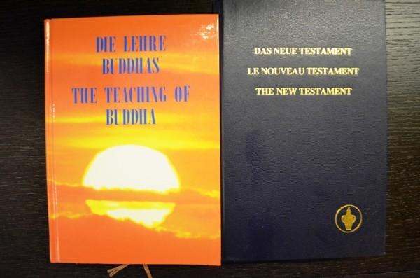ဒီ ေဟာ္တယ္ မွာေတာ႕ ဗုဒၶဘာသာ စာအုပ္ The Teaching Of Buddha ကို ထားေပးထားပါတယ္ ။