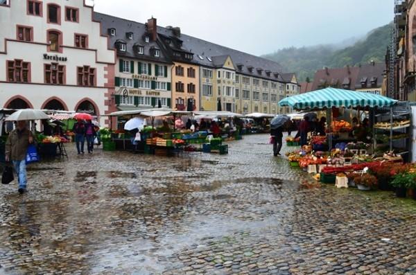 Freiburg ၿမိဳ႕လည္ ရင္ျပင္က်ယ္ႀကီး ထဲက ဂ်ာမန္ ပ်ံက်ေစ်း ။