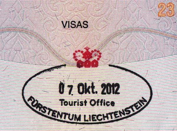 Liechtenstein Tourist Office ကိုသြား ၊ Euro ၄ က်ပ္ေလာက္ေပးၿပီး ၊ အဘ Passport မွာ တံုးထုခဲ႕ရပါတယ္ ။