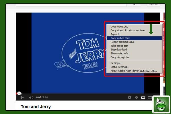 Youtube ကို အရင္သြား၊ ဗီဒီယုိေလး ဖြင့္၊ Right Click ႏွိပ္၊ ေပၚလာတဲ့ ထဲက ဒါေလးကို ႏွိပ္။