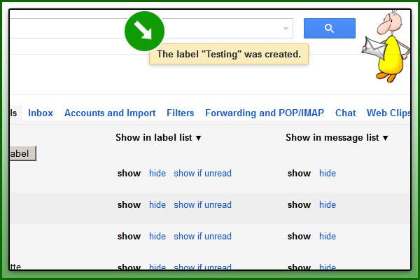 Label Create လုပ္ၿပီးရင္ Gmail က ဒီလိုေလး ျပပါတယ္။
